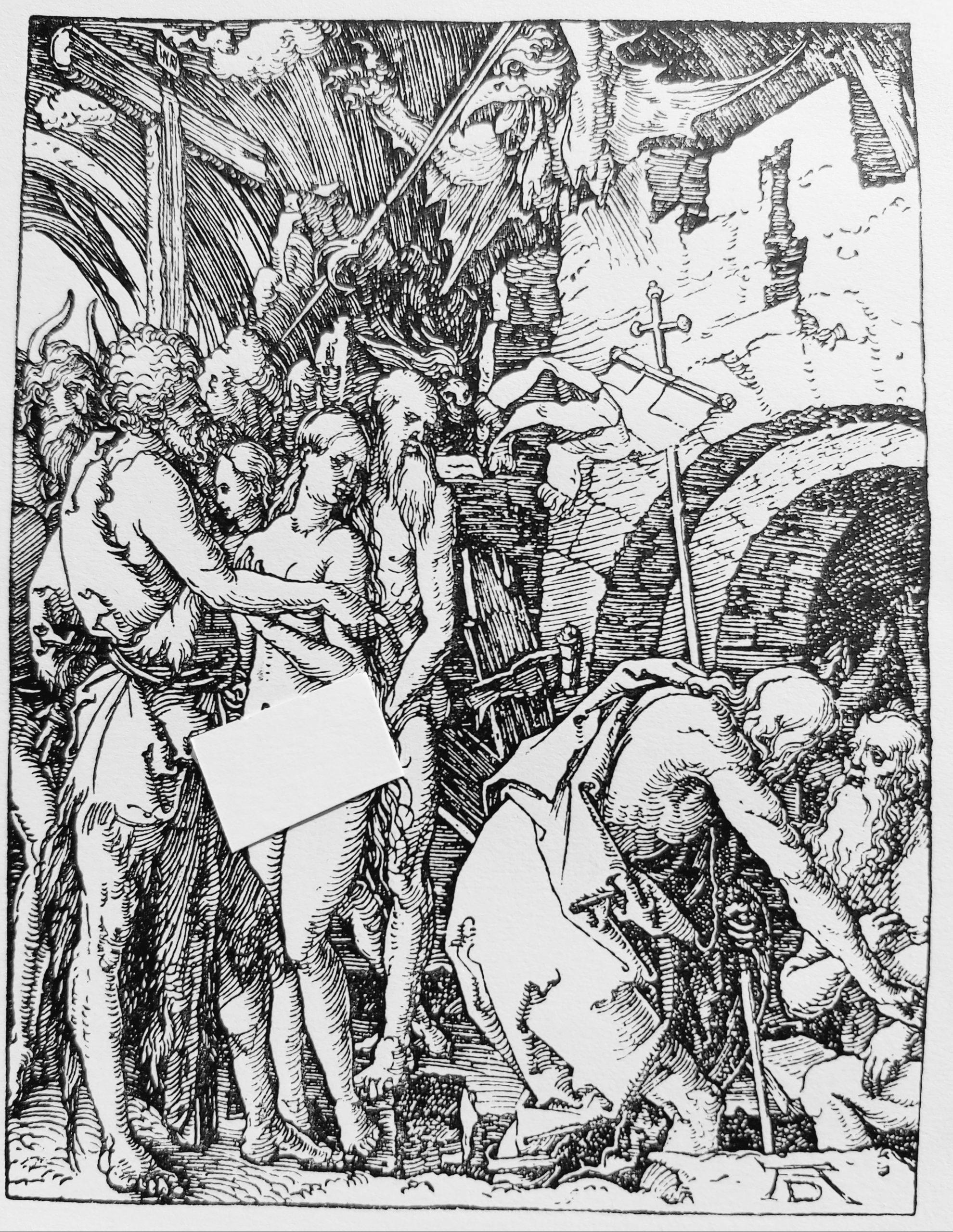 Holzschnitt Dürers aus der Kleinen Passion
